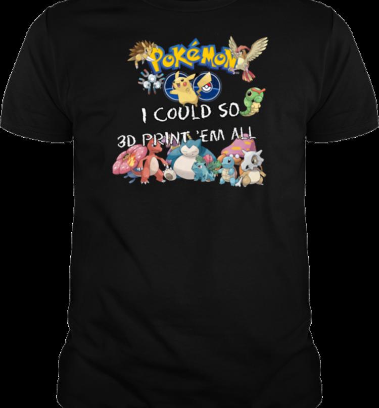 pokemon 3d printer shirt