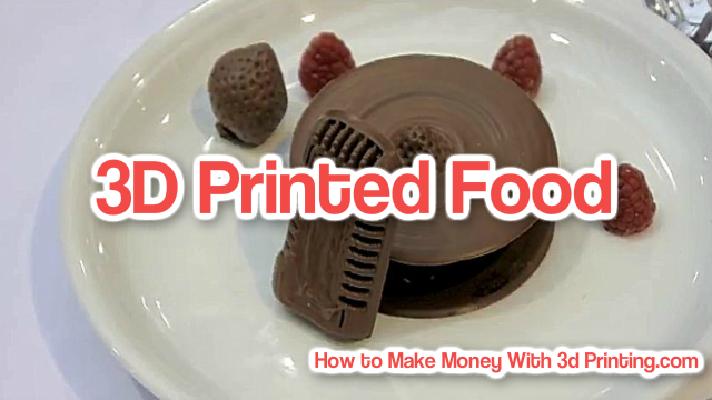 Printing Food With A 3D Printer Video