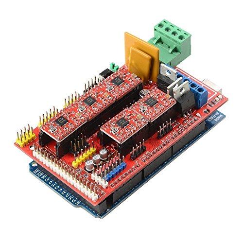 OSOYOO 3D Printer Kit with RAMPS 1 4 Controller + Mega 2560 board + 5pcs  A4988 Stepper Motor Driver with Heatsink + LCD 12864 Graphic Smart Display